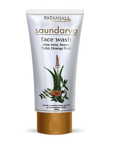 PATANJALI Saundarya Face Wash (Aloevera, Neem, Tulsi, Orange Peel) - Worldshopon.com