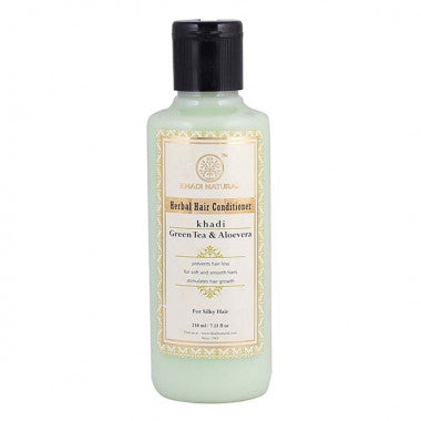 KHADI NATURAL - AYURVEDIC GREENTEA ALOEVERA HAIR CONDITIONER - Worldshopon.com