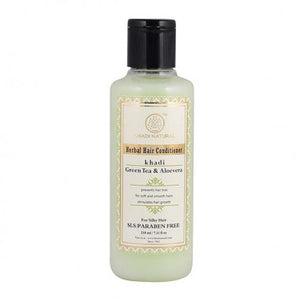 KHADI NATURAL - AYURVEDIC GREEN TEA ALOEVERA HAIR CONDITIONER SLS & PARABEN FREE - Worldshopon.com