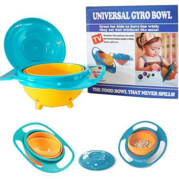 Ideal Home Universal Gyro Bowl 360 Rotate Spill-Proof Baby Feeding Dish - Worldshopon.com