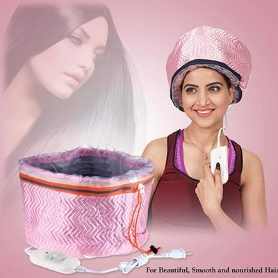 Hair Care Thermal Head Hair Spa Cap Treatment with Beauty Steamer Nourishing Heating
