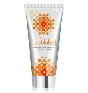 Schloka Sun Screen Cream Spf 30 Pa+++ With Gotukola & Cucumber (60 Ml) - Worldshopon.com