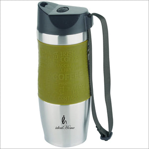 Ideal Home Stainless Steel Double Wall Insulated Vacuum Travel Mug, BPA Free- 350 ML Capacity, Leak Proof Sipper, Hot and Cold Water Bottle for 12 Hours - Worldshopon.com