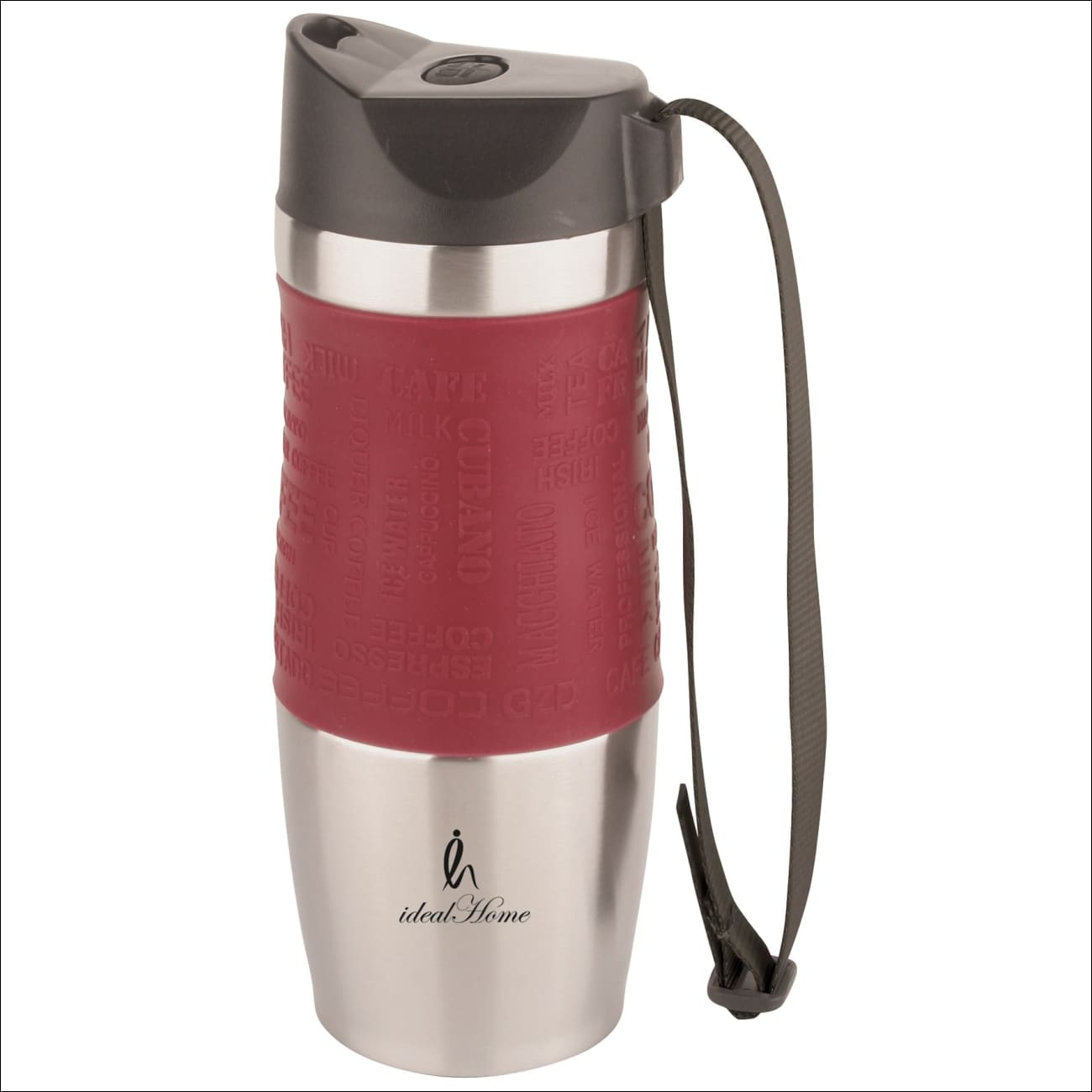 Ideal Home Stainless Steel Double Wall Insulated Vacuum Travel Mug, BPA Free- 350 ML Capacity, Leak Proof Sipper, Hot and Cold Water Bottle for 12 Hours - worldshopon-com