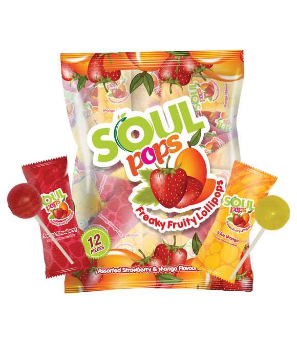 SOUL POPS FREAKY FRUITY LOLLIPOP(Pack of 2)