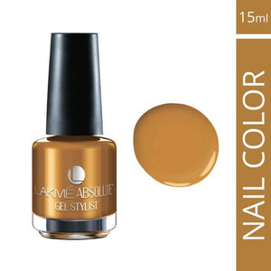 Lakme Absolute Gel Stylist Nail Color Gold Glaze (15 ml)