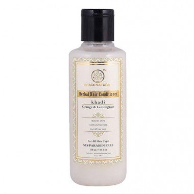 KHADI NATURAL - AYURVEDIC ORANGE LEMONGRASS HAIR CONDITIONER SLS & PARABEN FREE - Worldshopon.com