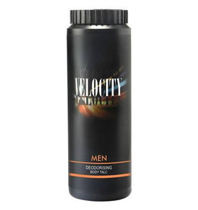 VELOCITY MEN DEODORISING BODY TALC (100 G) - Worldshopon.com