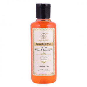 KHADI NATURAL - AYURVEDIC ORANGE & LEMONGRASS BODY WASH - Worldshopon.com