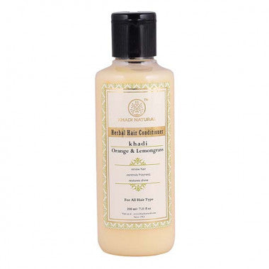 KHADI NATURAL - AYURVEDIC ORANGE LEMONGRASS HAIR CONDITIONER - Worldshopon.com