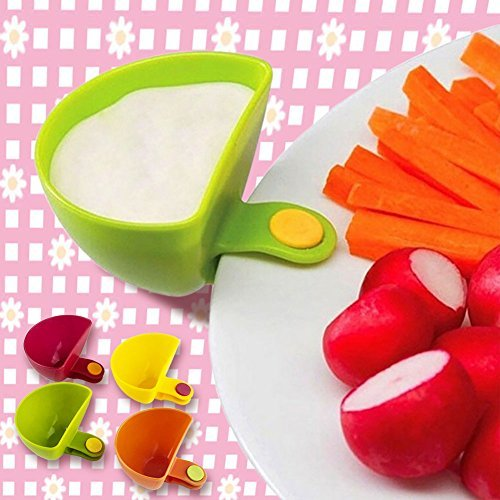 Plate Partner - 4 pieces  Multi-Purpose Mini Kitchen Plastic Clip Bowl Cup (Multicolor) - worldshopon-com
