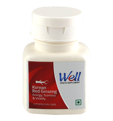 WELL KOREAN RED GINSENG-6 YRS. OLD (60 TABLETS) - Worldshopon.com