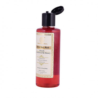 KHADI NATURAL - AYURVEDIC SANDALWOOD & HONEY BODY WASH - Worldshopon.com