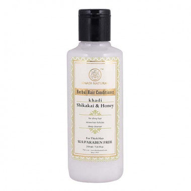 KHADI NATURAL - AYURVEDIC SHIKAKAI HONEY HAIR CONDITIONER SLS & PARABEN FREE - Worldshopon.com