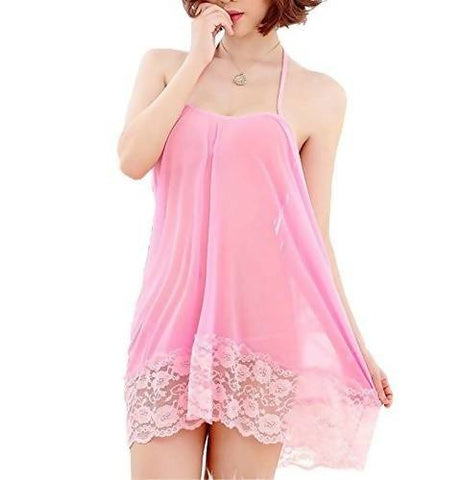 Women's Polyester and Net Babydoll Nightwear  - Worldshopon.com