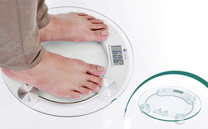 Ideal Home Heavy Duty Electronic Thick Tempered Glass & LCD Display Electronic Digital Personal Bathroom Body Weight Scale , Digital Weighing Machine For Human , Weight Machines For Body Weight - Worldshopon.com