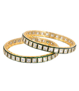 THE MAHARANI COLLECTION KUNDAN KANGAN GREEN - Worldshopon.com