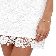 White Flirty Lace Dress Short