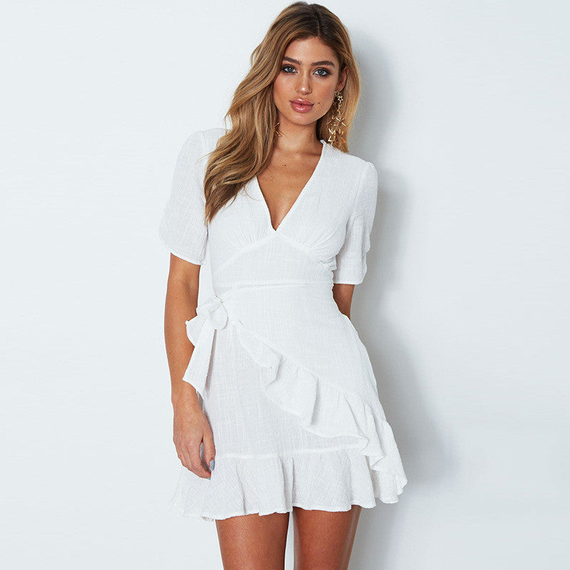 V Neck Elegant Summer Dress