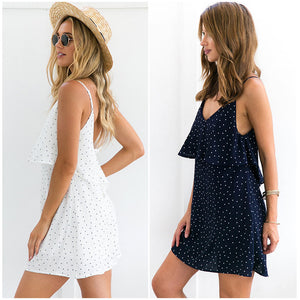 Summer Boho Blue Dress