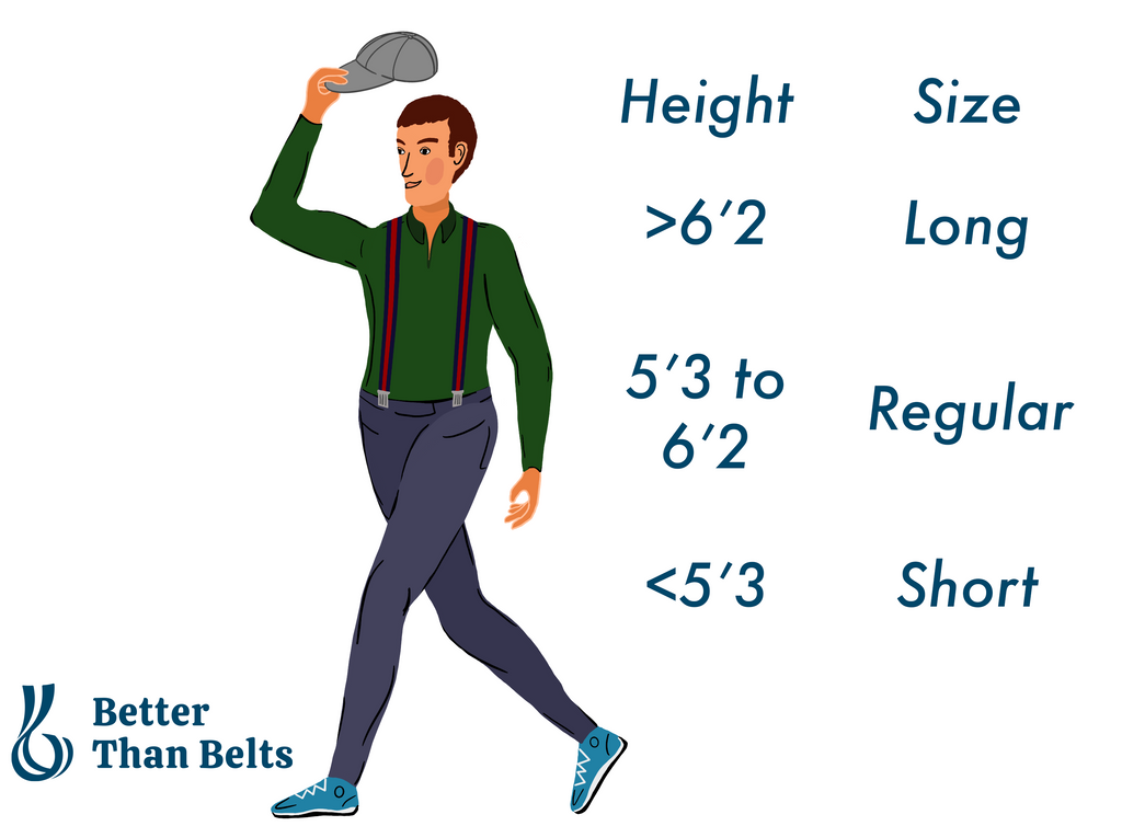 Better Than Belts Suspenders Size Guide