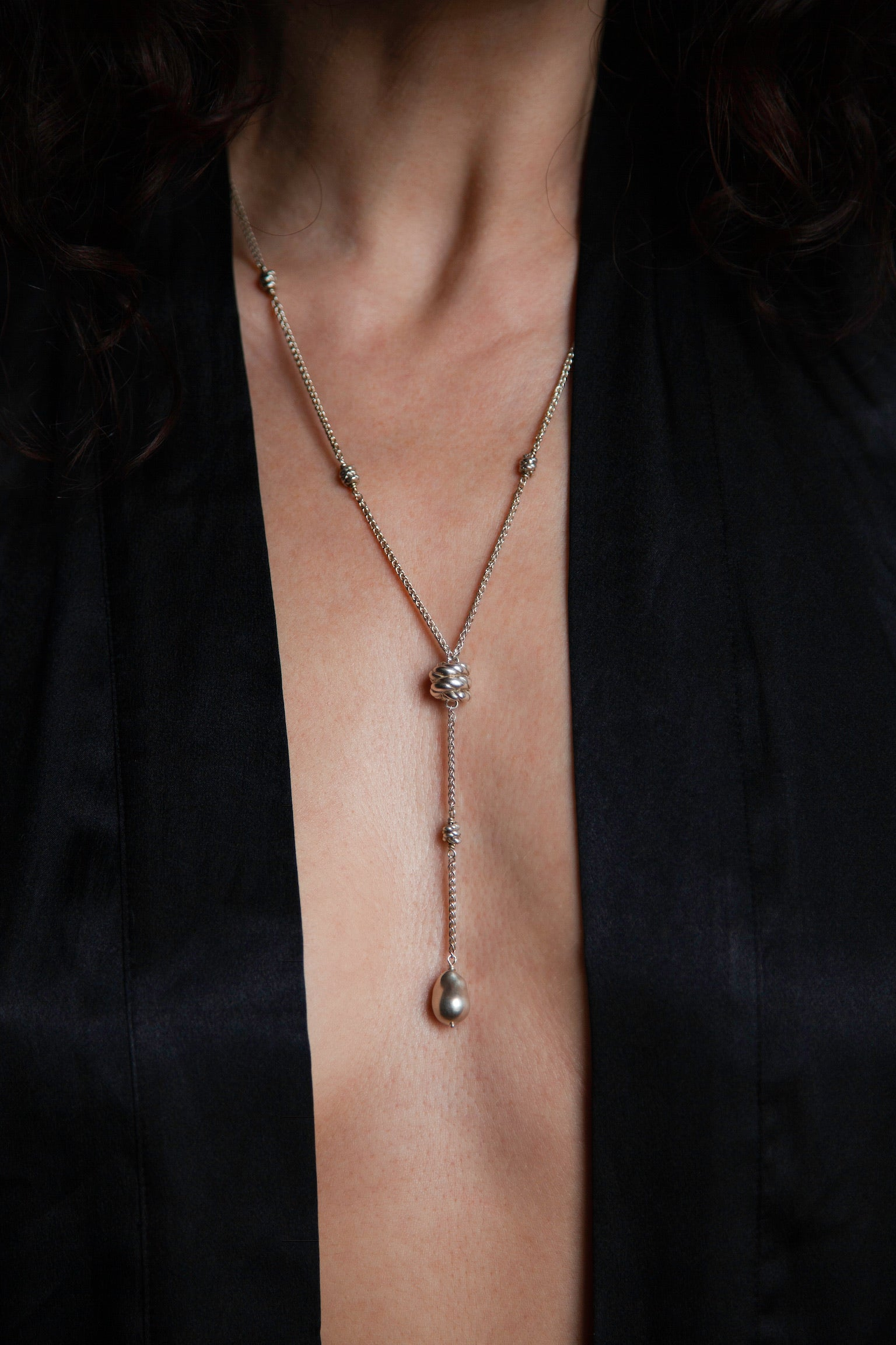 Full Metal Bede Necklace - SS