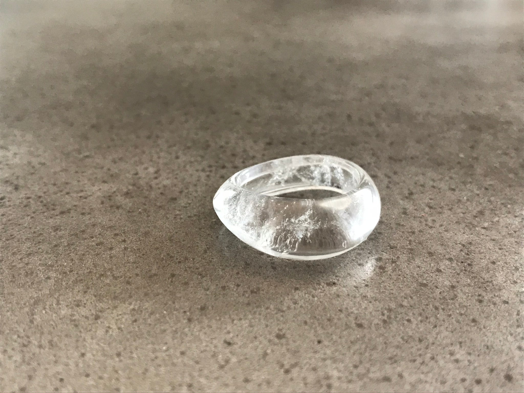 Rock Quartz Wave Ring