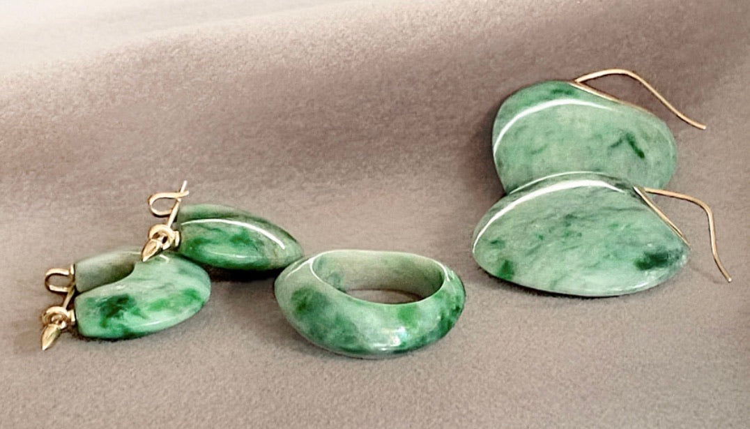 Papal Earring - Green Jade