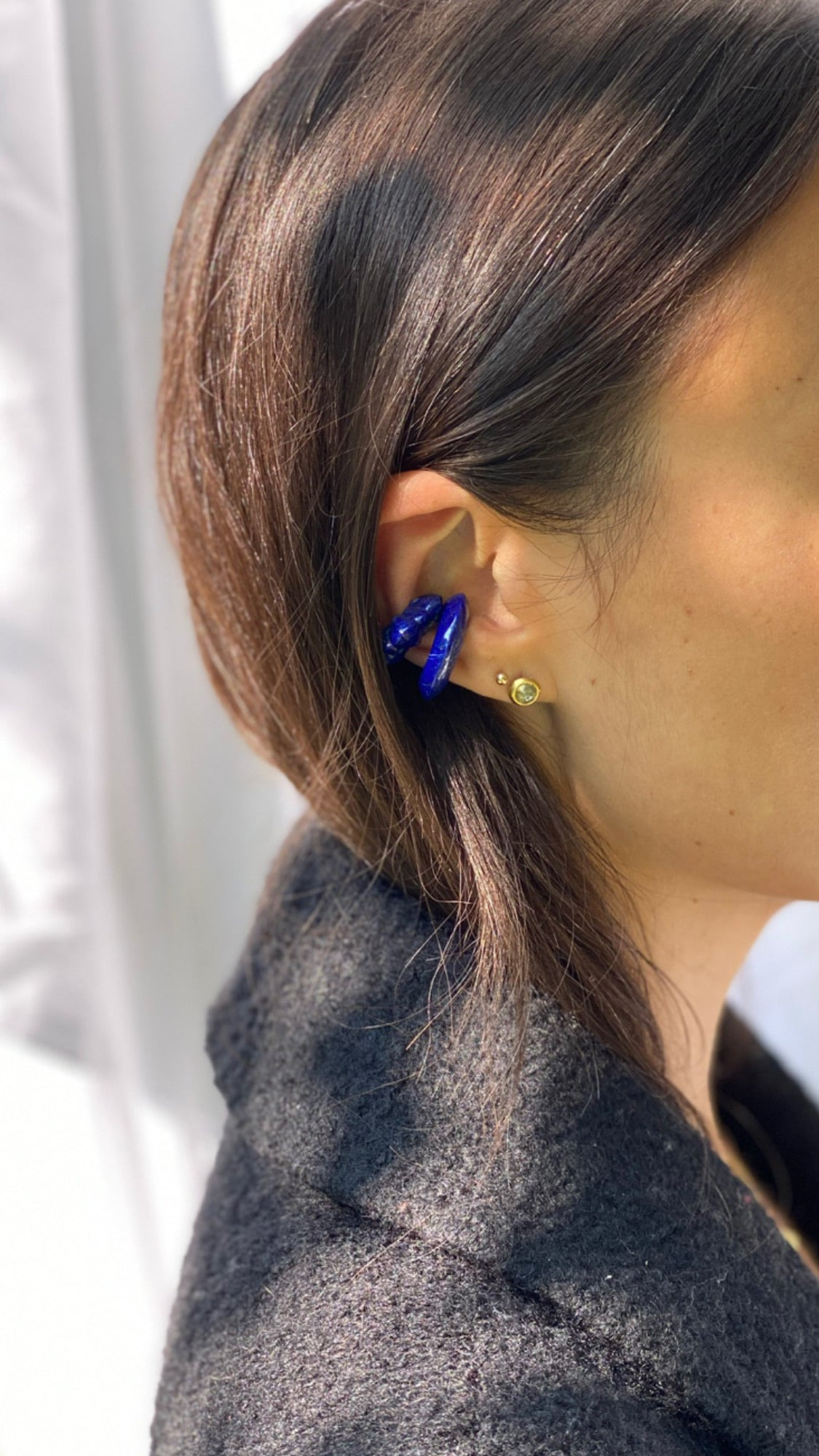 Mountain Ear Cuff - Lapis