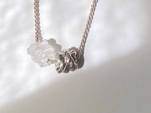 Duo Necklace - Rock Quartz + Silver