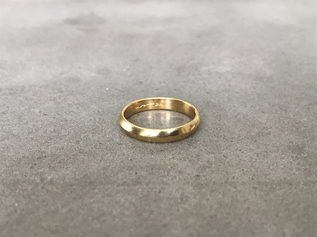 Medium Ridge Ring : Rose Gold