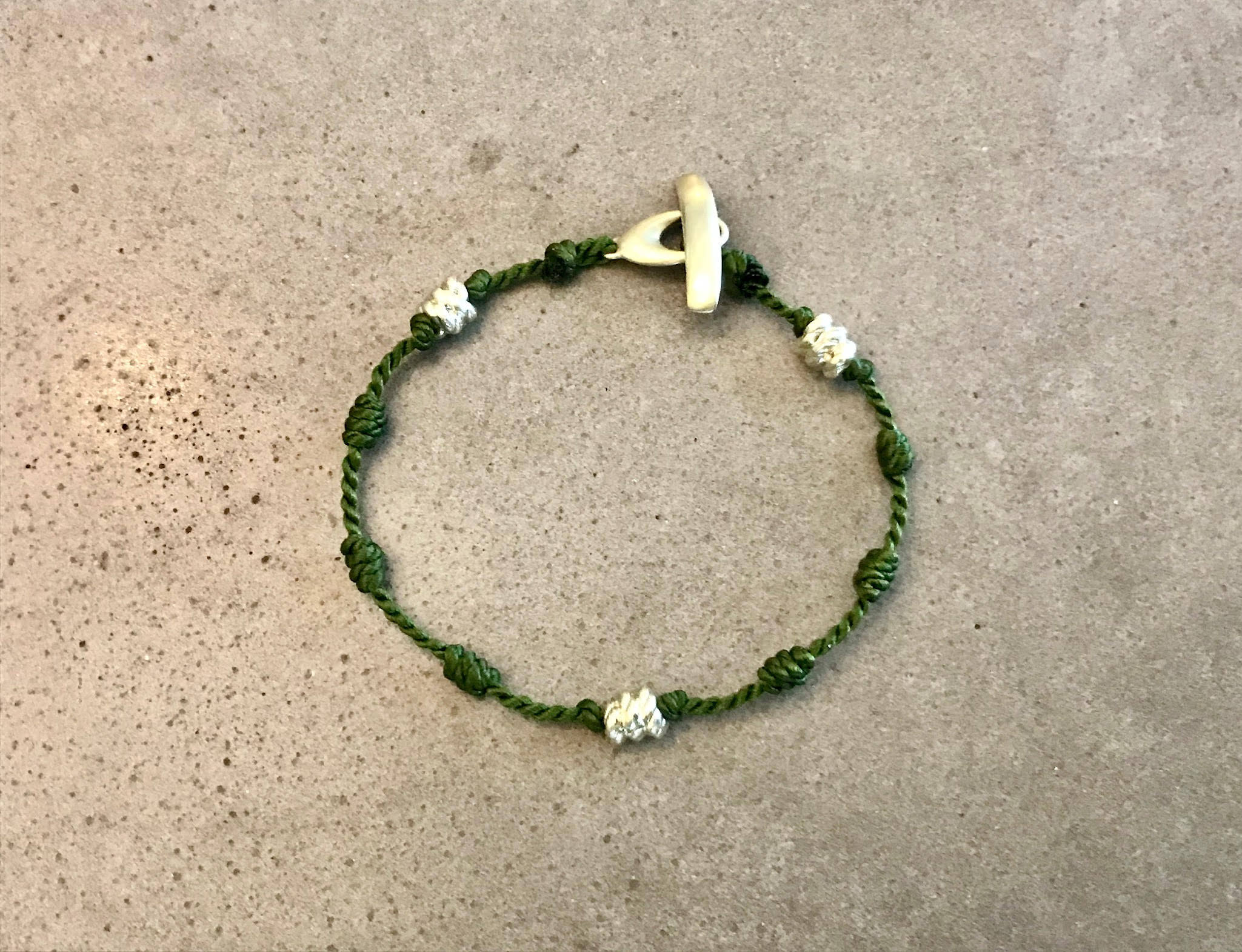 Everyday Bracelet - Olive and Green Gold