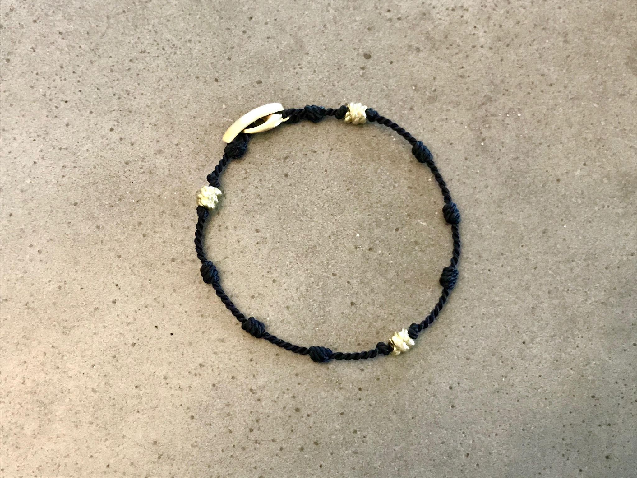 Everyday Bracelet - Black Silk + Gold