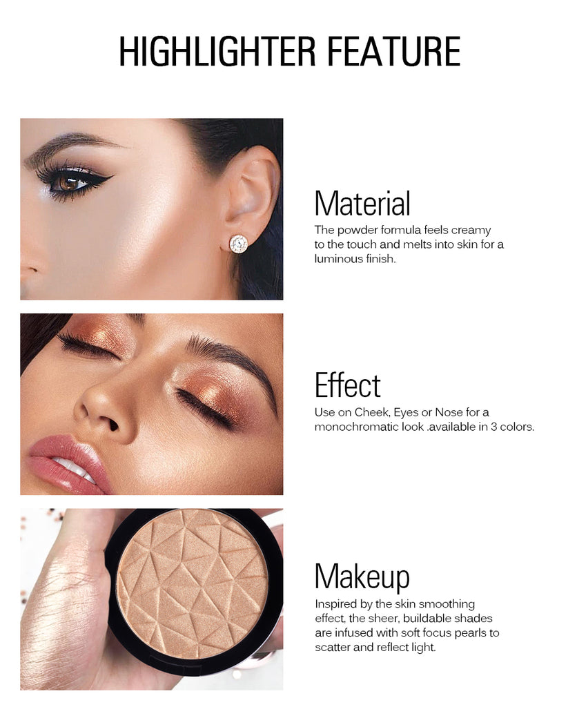 Face Highlight Palette Glow Pressed Powder Makeup