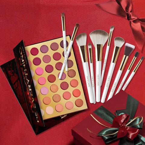 Reborn Eyeshadow with 10pcs Brushes Makeup Sets for New Year 2021