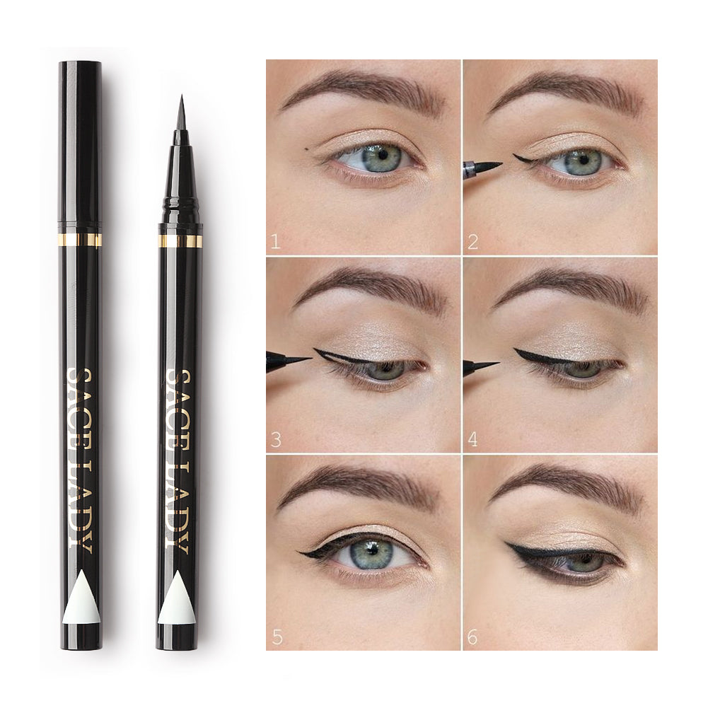 Waterproof Liquid Eyeliner Precise Long Lasting Smudge-Proof