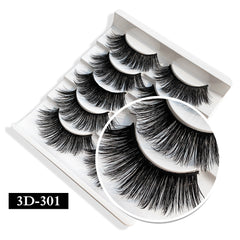 3D & 6D Long Thicken Curl False 5 Pairs Eyelashes
