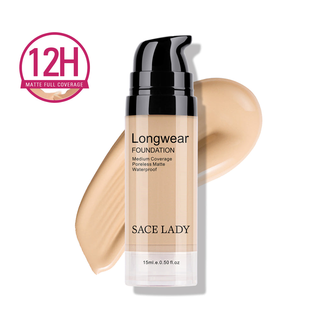 Matte Finish Liquid Foundation Waterproof Smooth Makeup