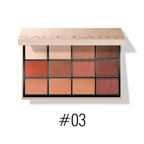 Matte Shimmer Waterproof Eyeshadow Palette