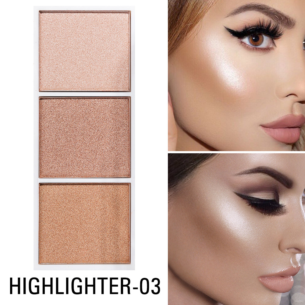 4 Colors Face Highlighter Palette