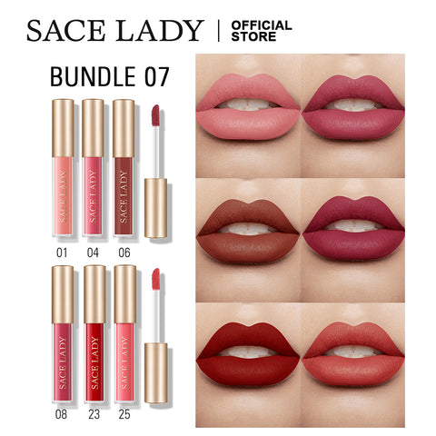 Waterproof liquid Lipstick Gloss Mini Set