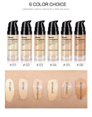 SACE LADY Face Foundation Cream Base Makeup Professional Matte Finish Make Up Liquid Concealer Waterproof Brand Natural Cosmetic