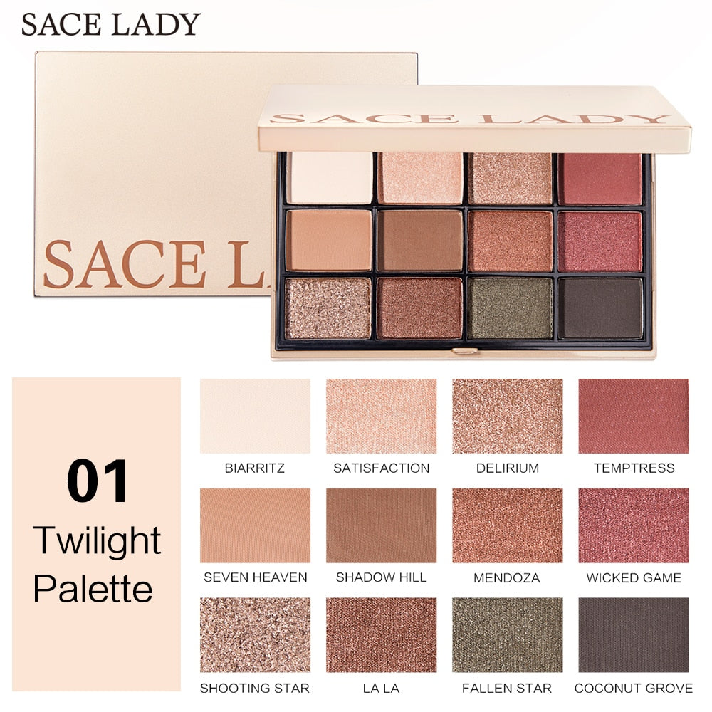 SACE LADY Eyeshadow Palette Make Up Glitter Matte Eye Shadow Makeup Shimmer Pigmented Professional Nude Palette Natural Cosmetic