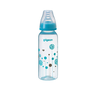 Flexible Peristaltic PP 240ml Bottle - Blue design