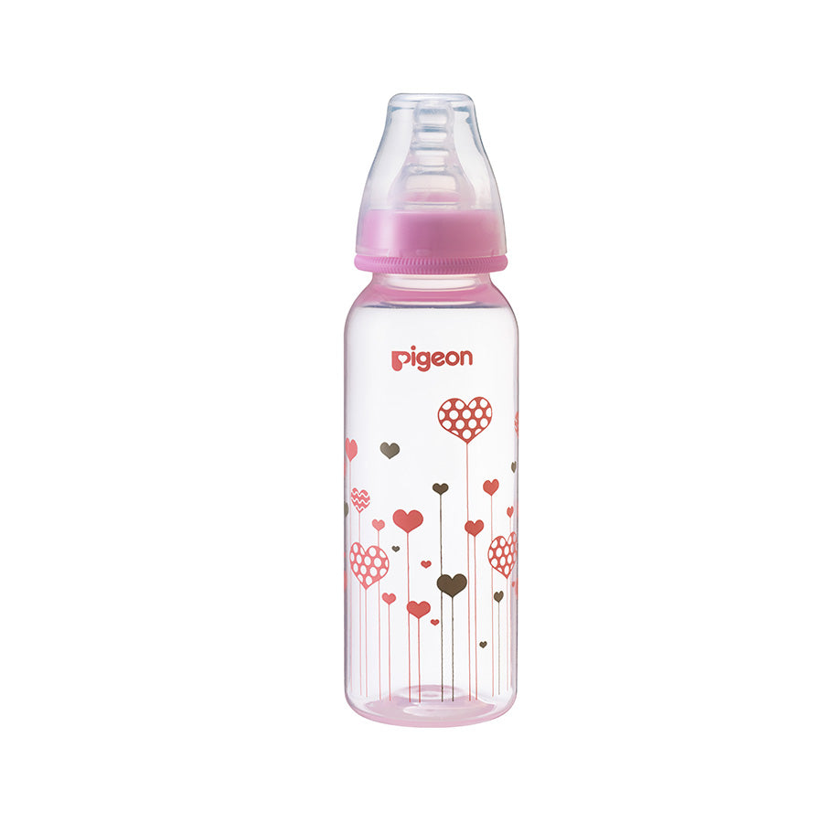 Flexible Peristaltic PP 240ml Bottle - Pink design