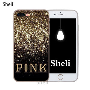Pink victoria secret case for iPhone X XS XR MAX SE 5 5s 6 6s 7 8 Plus 1408bf3a4f52
