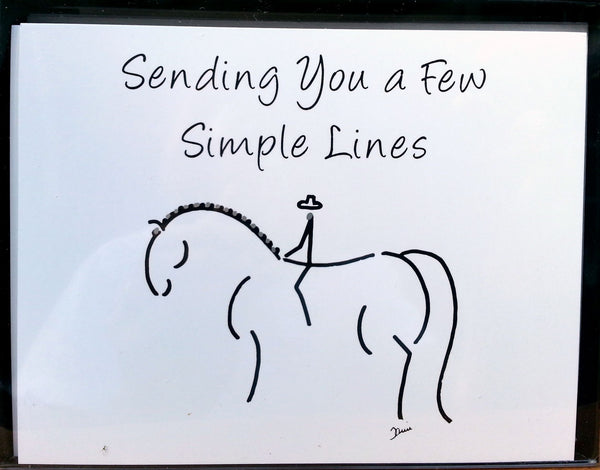 Note Card Pack-6-Horse