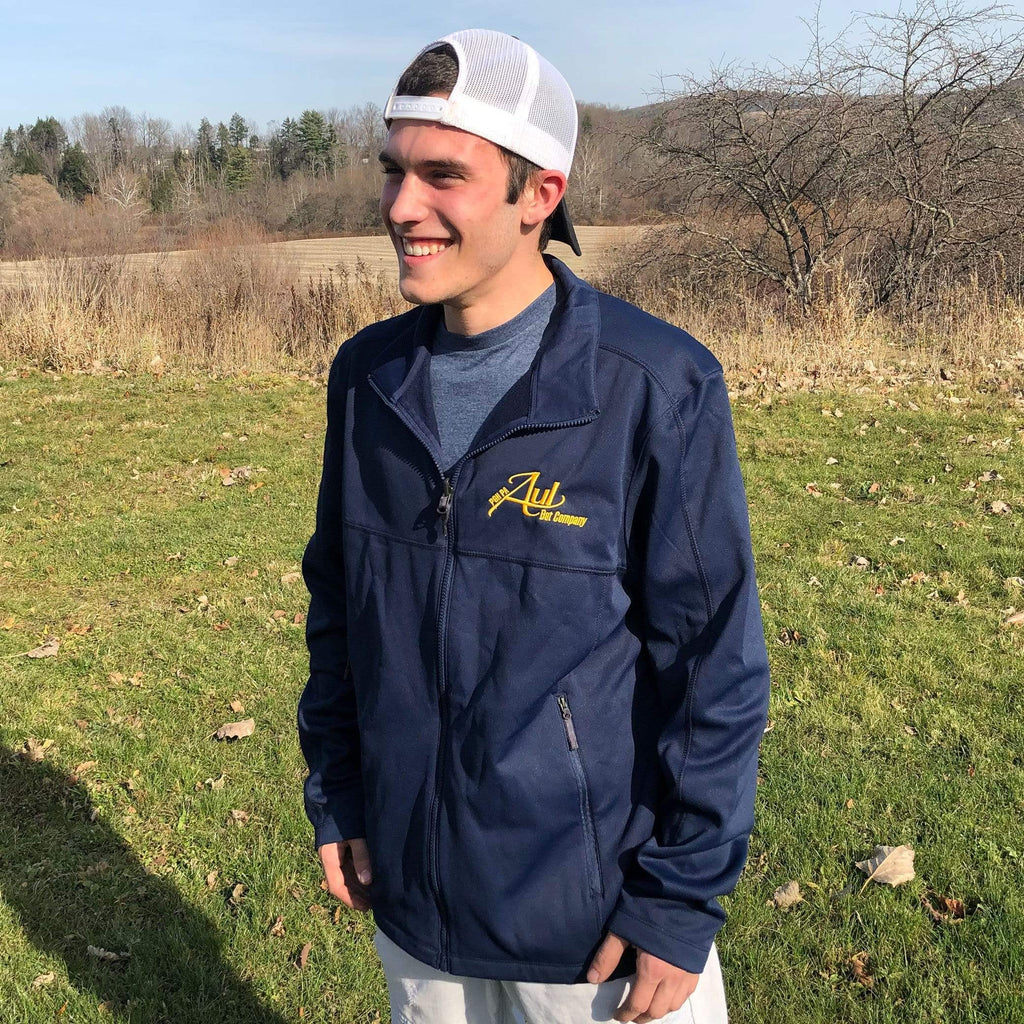 Aul Bat Co. Apparel Large Aul Bat Co. Navy Zip Up Fleece