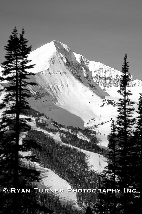 Ryan Turner Photography of Lone Peak Mountain Bowl in Big Sky, Montana for purchase at www.ryanturnerphoto.com.