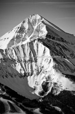 Ryan Turner Photography of Lone Peak Mountain in Big Sky, Montana for purchase at www.ryanturnerphoto.com.